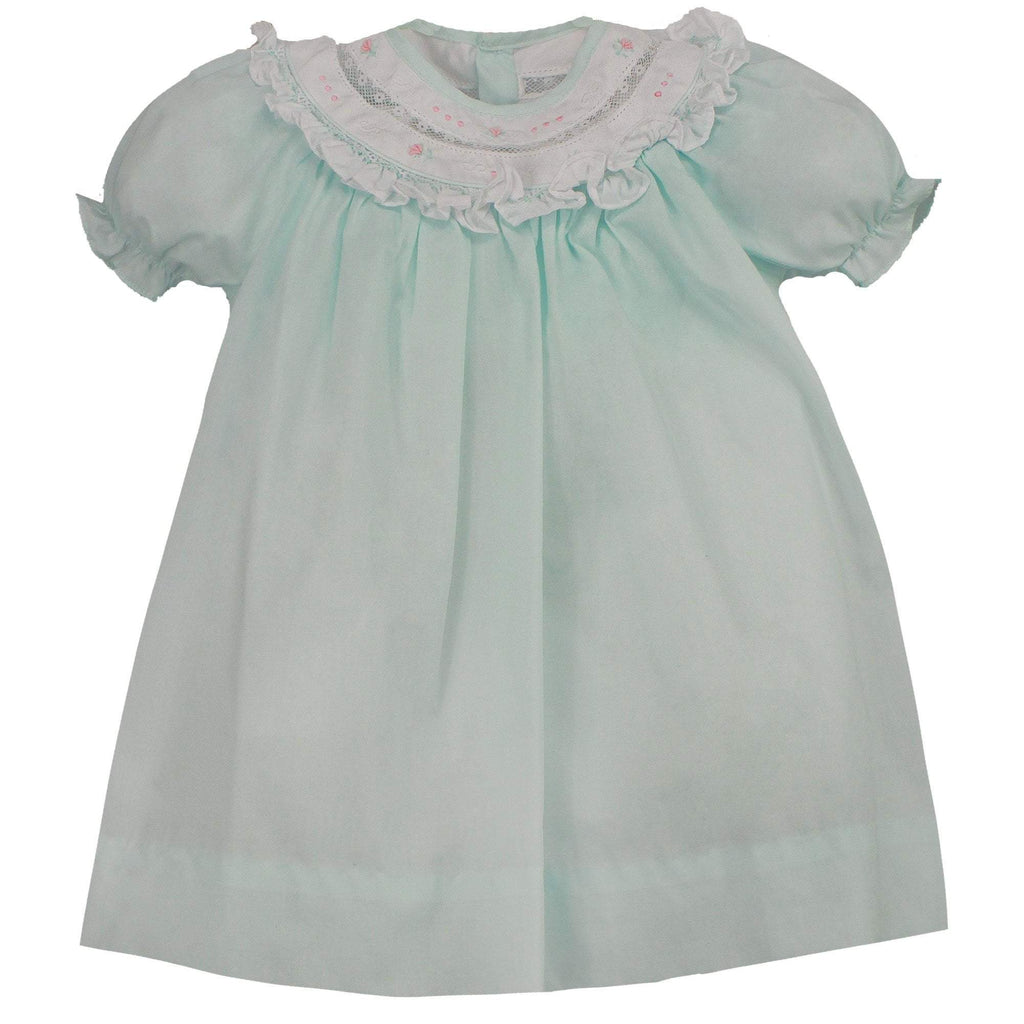 Bishop Lace Insert Dress - Petit Ami & Zubels    All Baby!