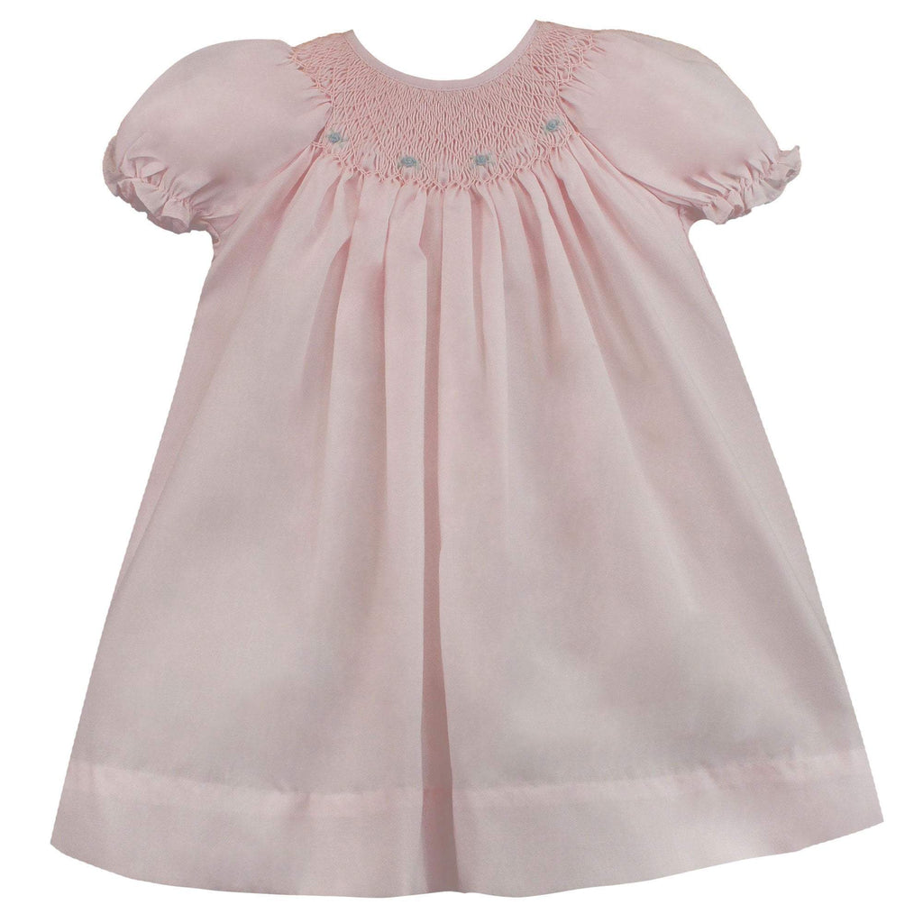 Daygown with Heart Smocking & Pearls Dress petit ami Newborn Pink