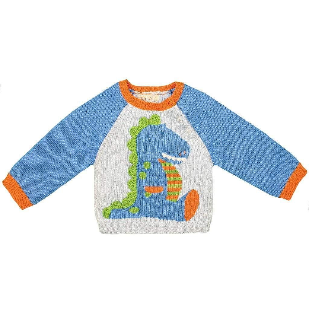hand made dinosaur knit sweater