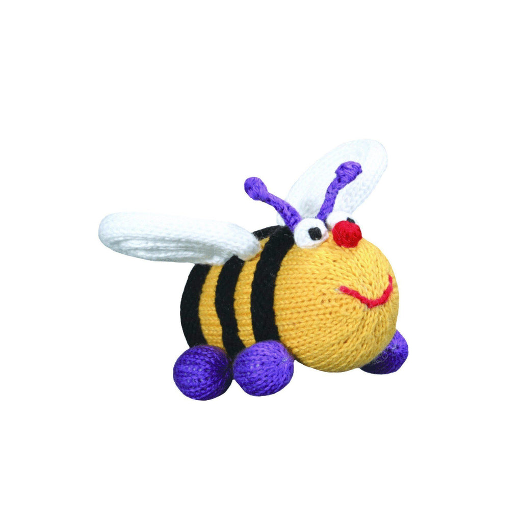 Elizabeth the Bee Knit Rattle - Petit Ami & Zubels    All Baby!