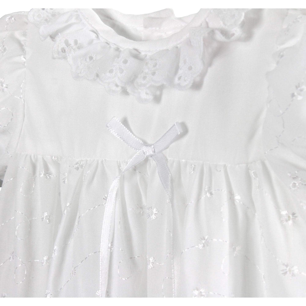 Eyelet Lace with Scallop Edge Christening Gown dress petit ami