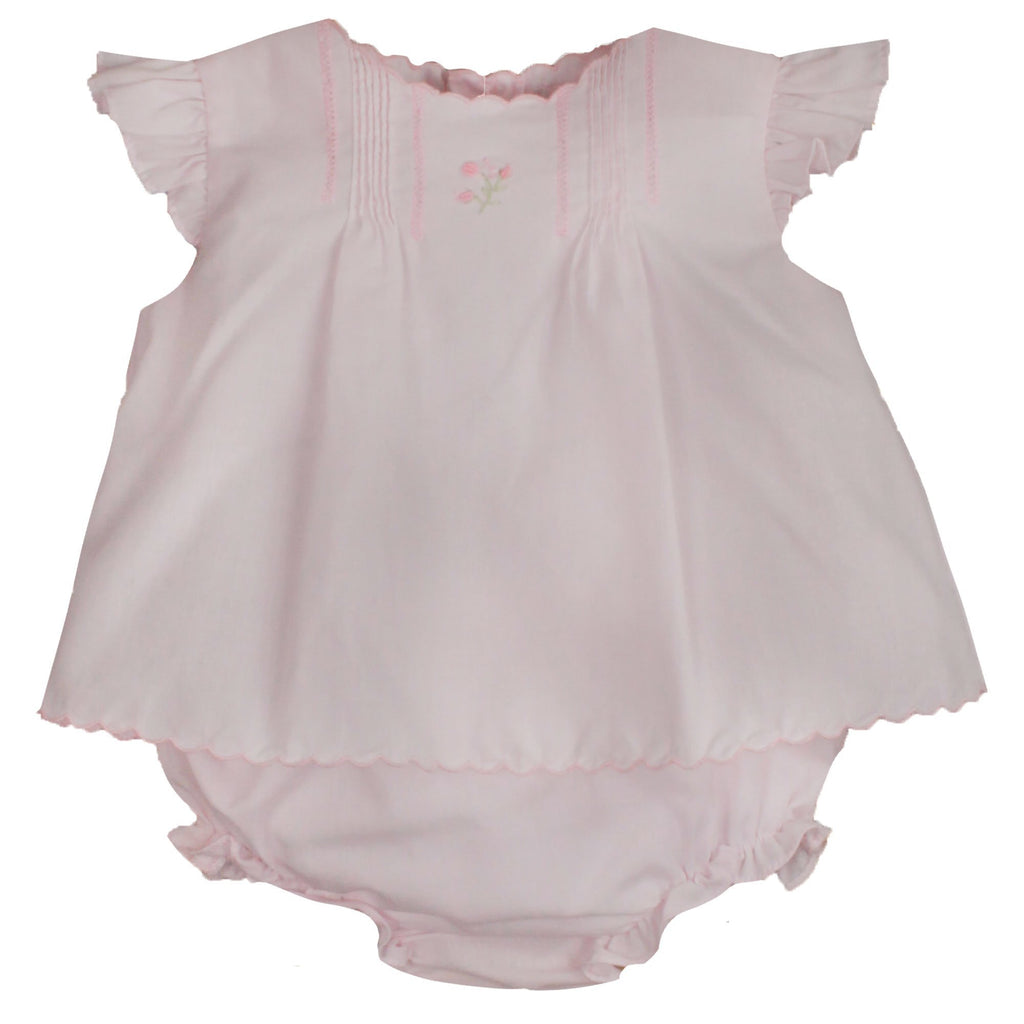 Flower Embroidered Heirloom Diaper Set - Petit Ami & Zubels    All Baby!