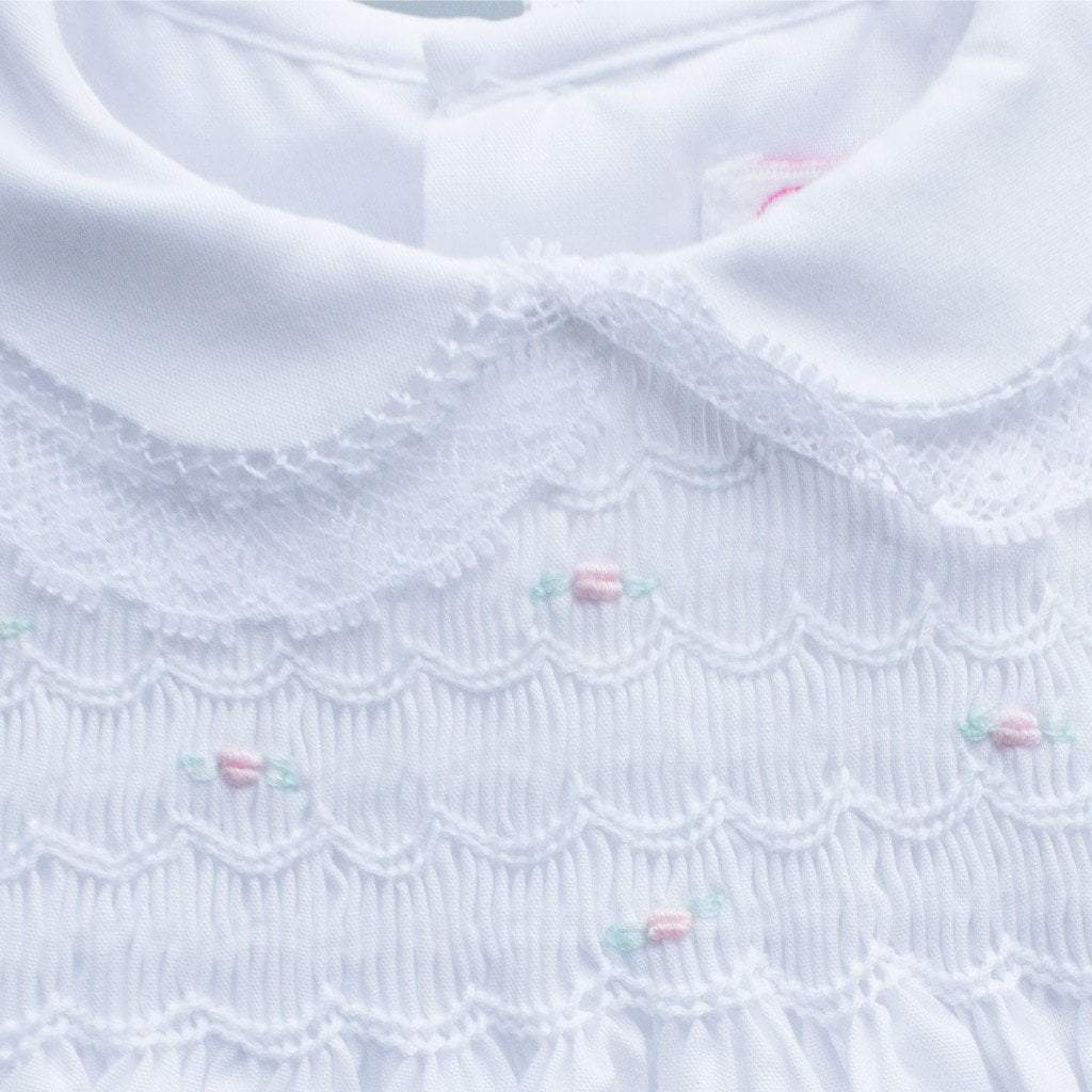 Fully Smocked Dress with Lace other petit ami