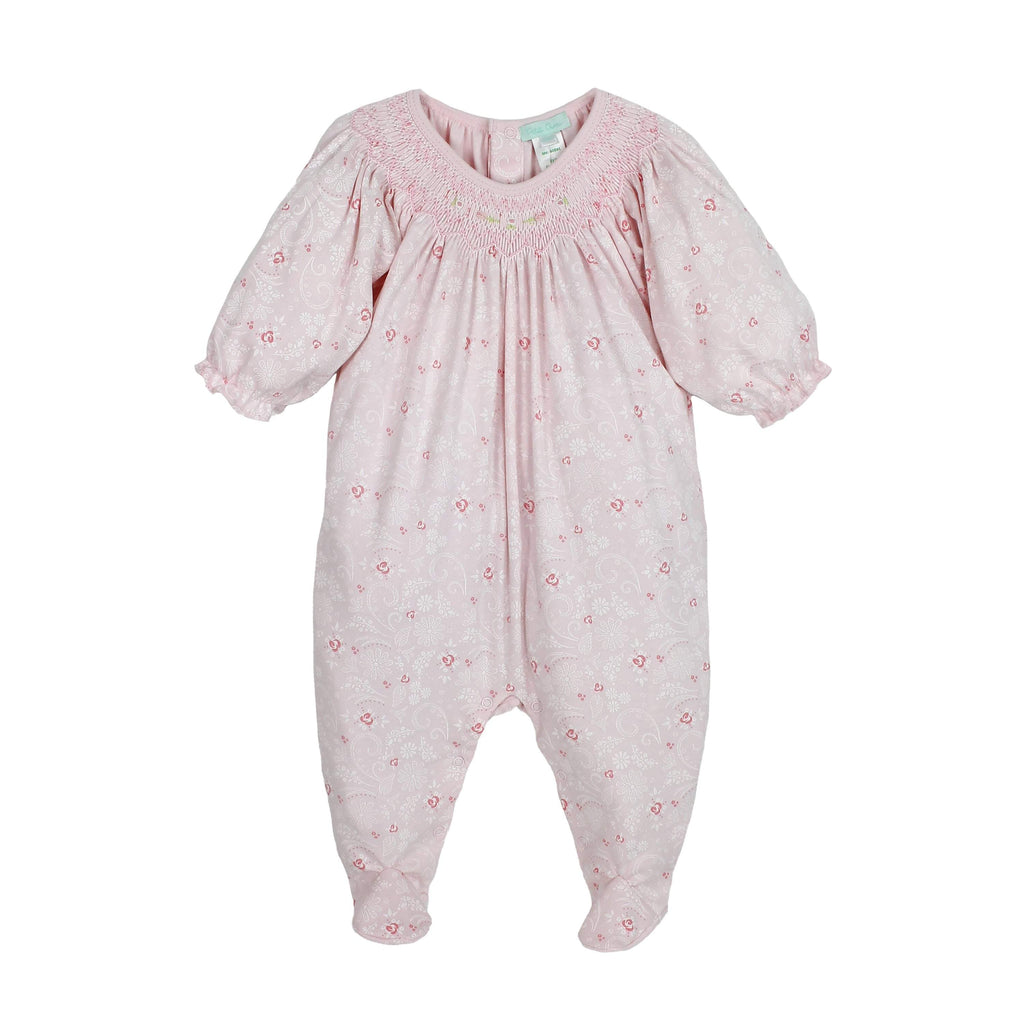 Pima Cotton Smocked Footsie bubble petit ami