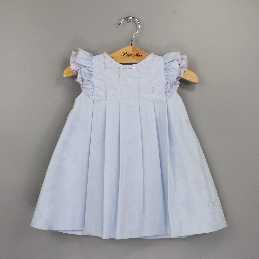 Picot Edge Angel Wing Dress dress petit ami 2T Blue