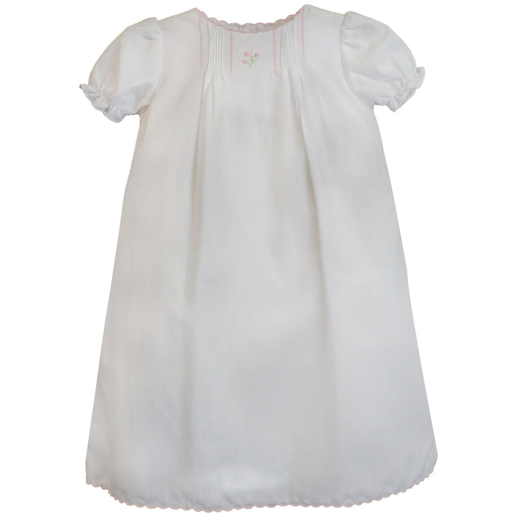 Flower Embroidered Heirloom Daygown - Petit Ami and Zubels baby toys and gifts toddler child