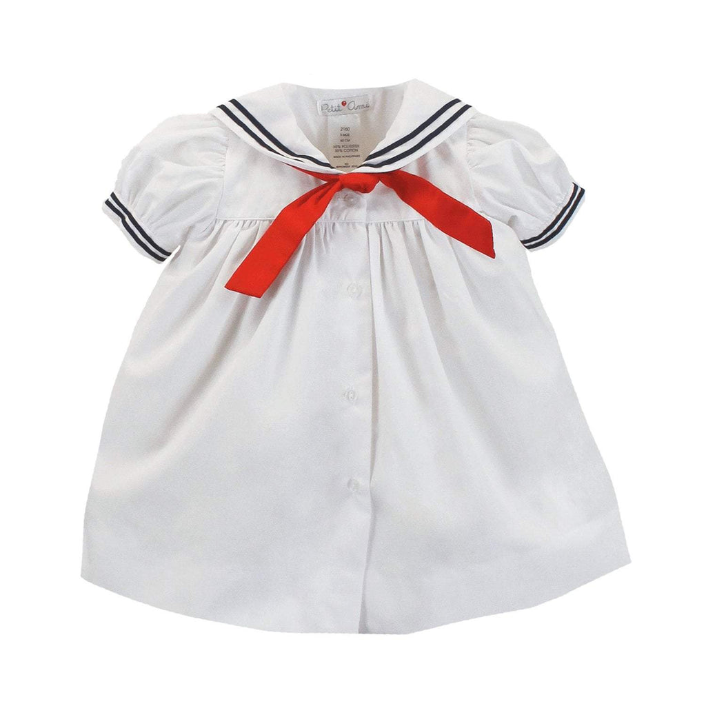Nautical Sailor Dress dress petit ami 3M White