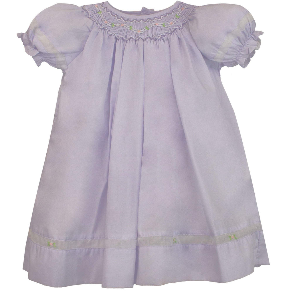 Smocked Daygown with Viole Insert - Petit Ami and Zubels baby toys and gifts toddler child