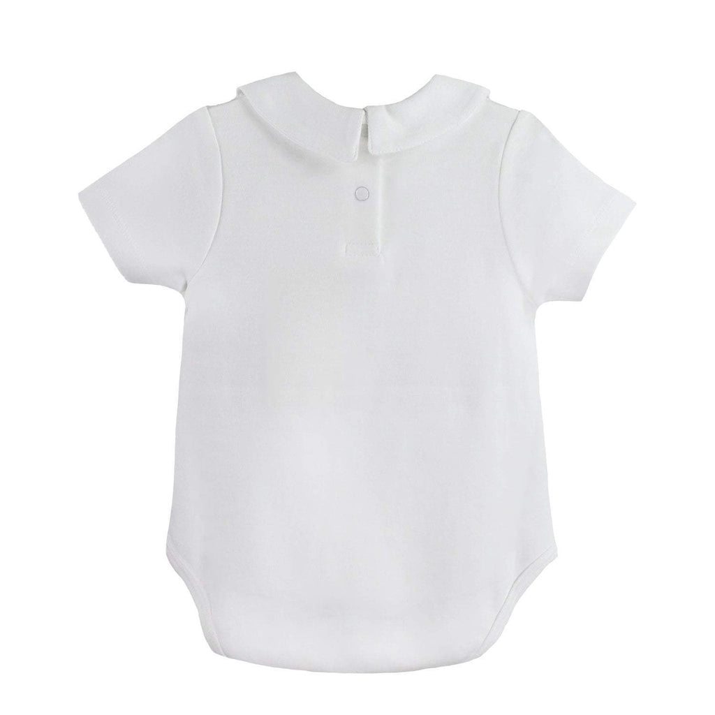 Organic Cotton Knit Short Sleeve Onesie - Petit Ami and Zubels baby toys and gifts toddler child