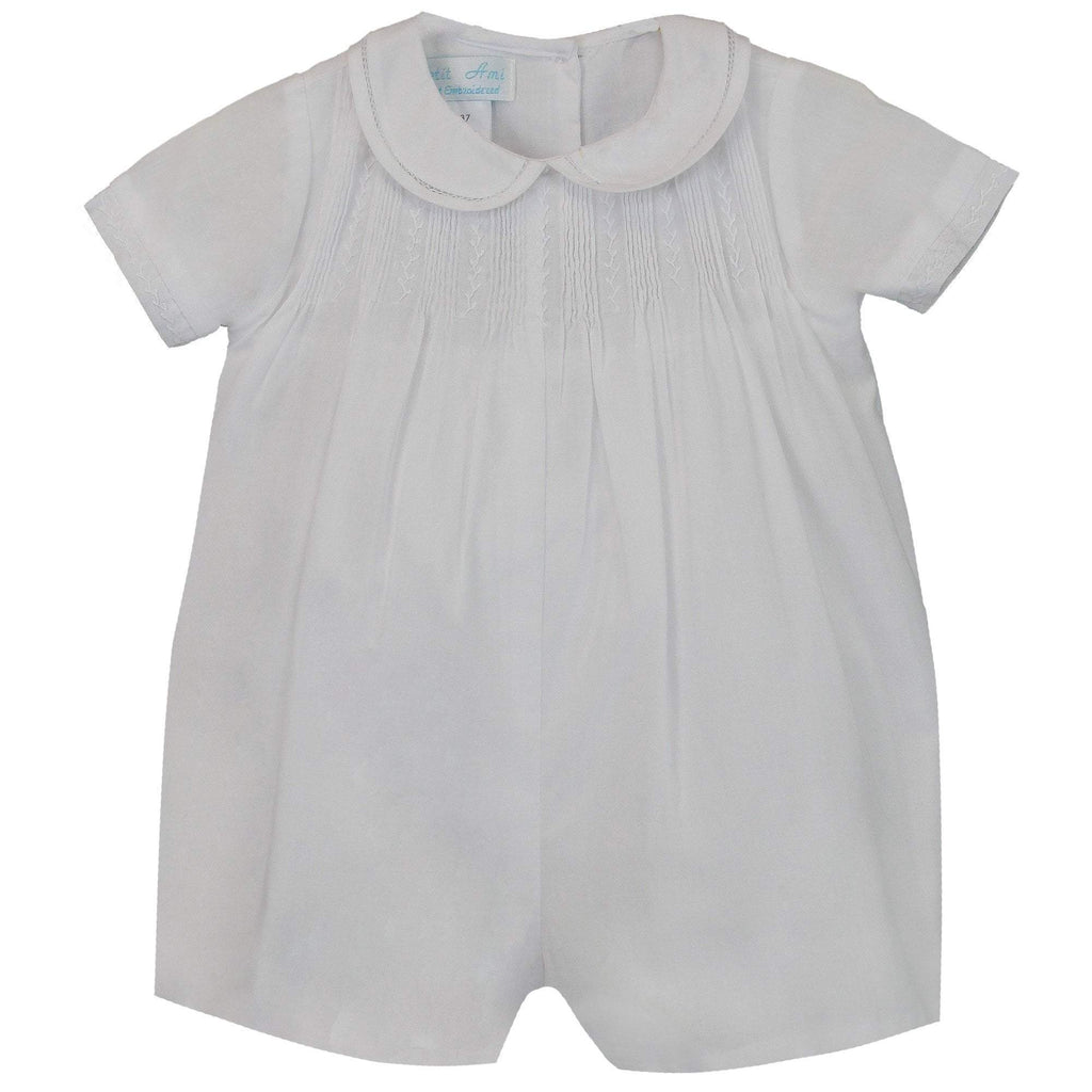 Romper with Pintucks - Petit Ami & Zubels    All Baby!