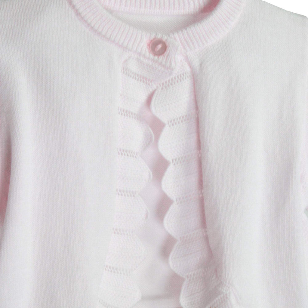 Pointelle Edge Bolero Sweater - Petit Ami and Zubels baby toys and gifts toddler child