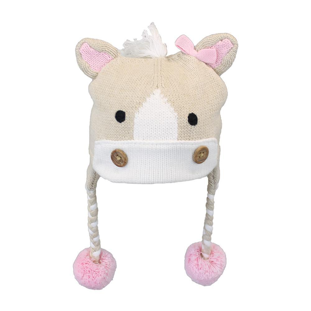 Pony Cotton Knit Hat - Petit Ami and Zubels baby toys and gifts toddler child