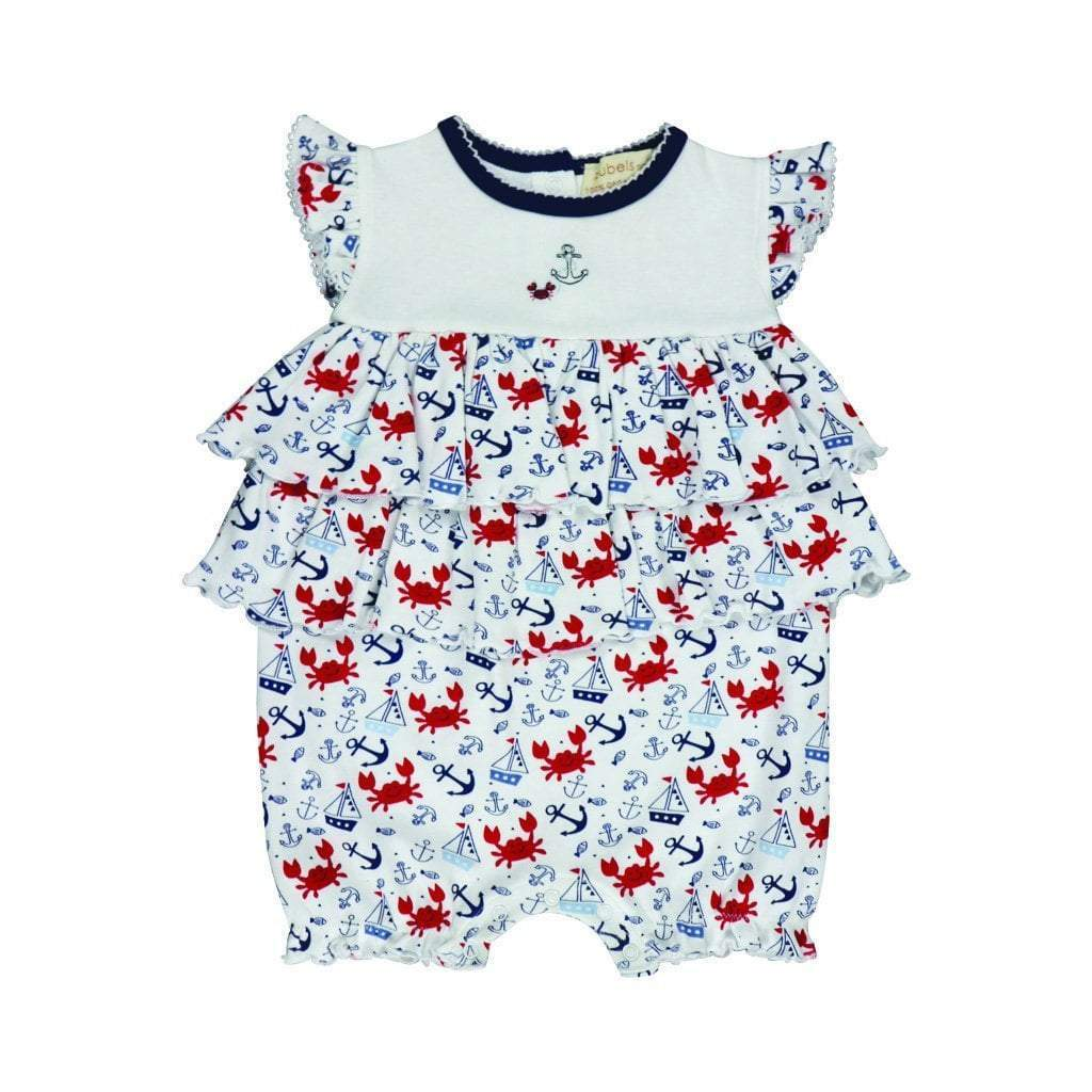 Organic Cotton Knit French Bubble  Nautical Print - Petit Ami & Zubels    All Baby!