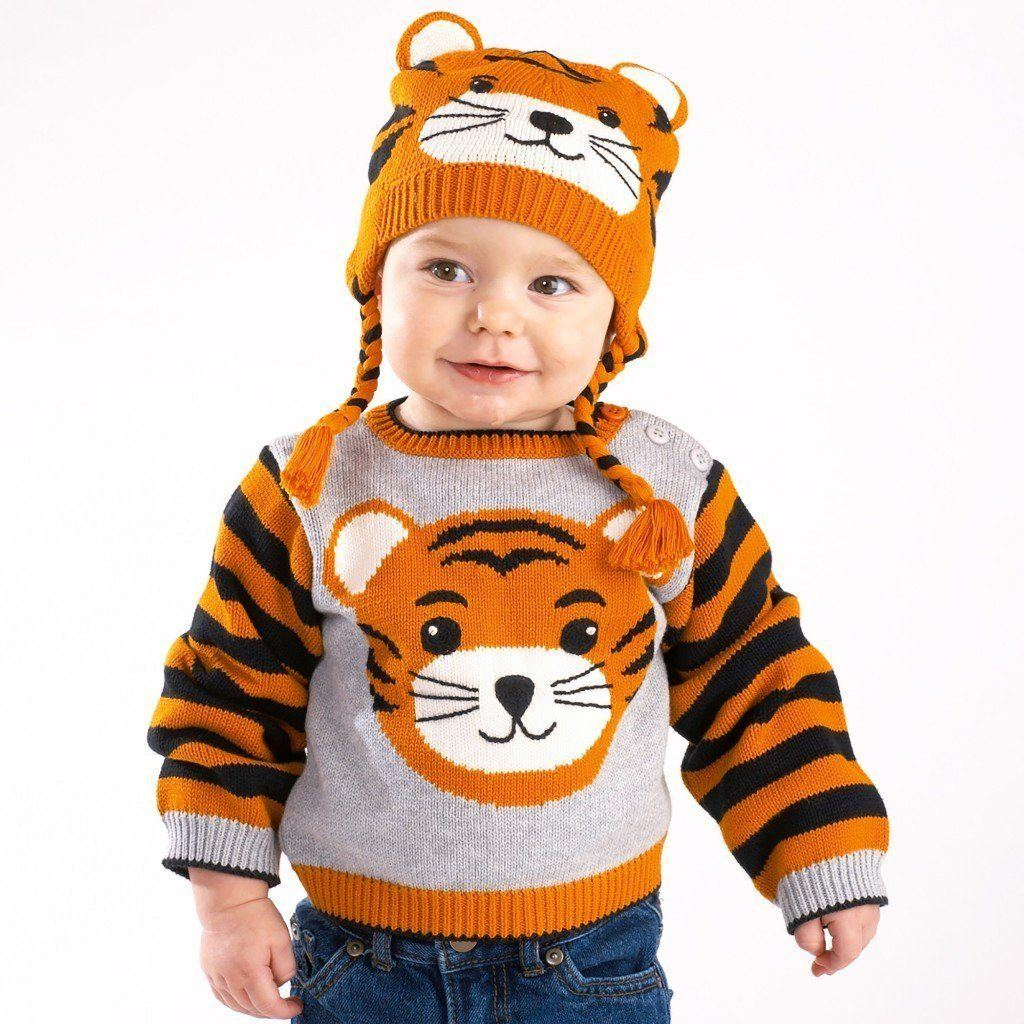 handmade tiger knit sweater