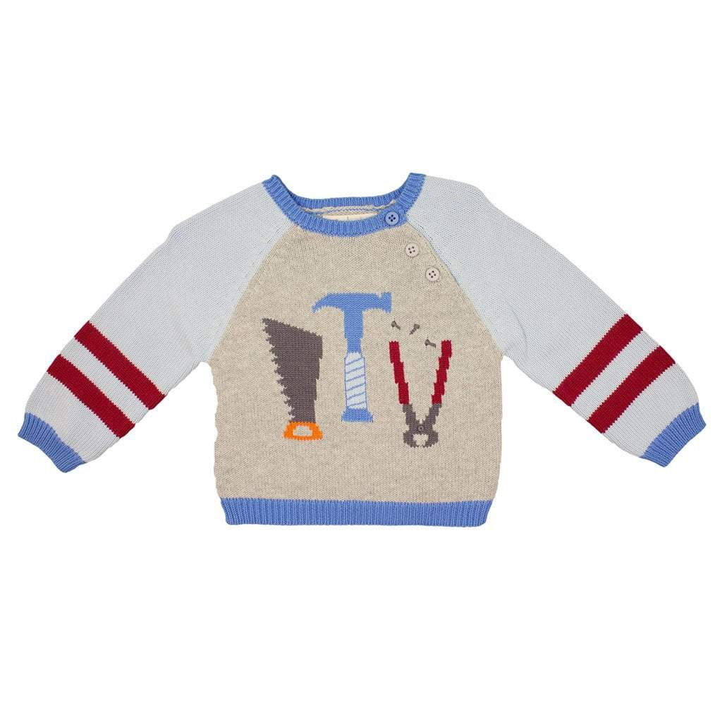 Tool Cotton Knit Sweater - Petit Ami and Zubels baby toys and gifts
