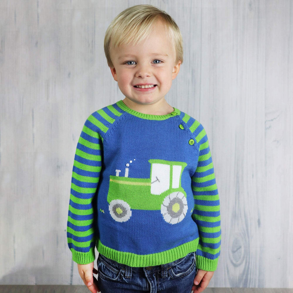 Tractor Sweater - Petit Ami and Zubels baby toys and gifts
