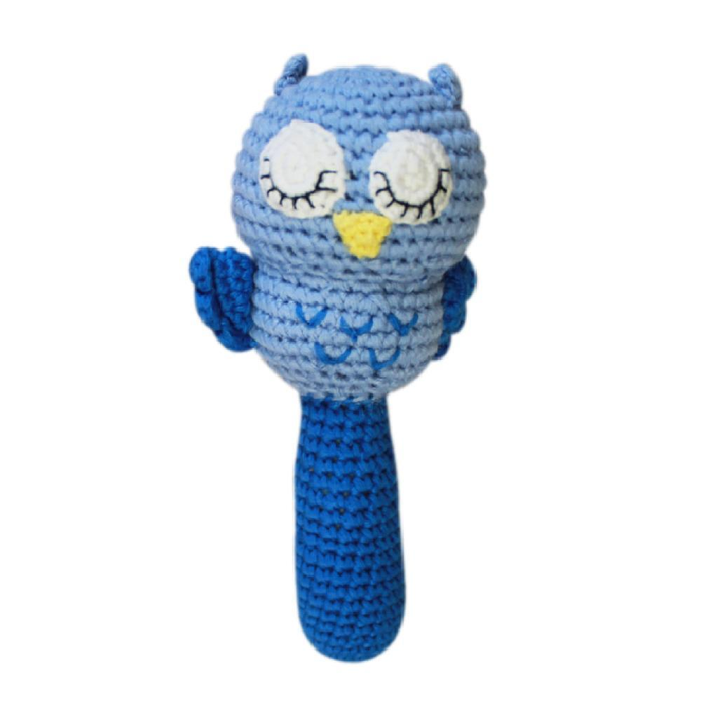 Owl Stick Rattle - Petit Ami & Zubels    All Baby!