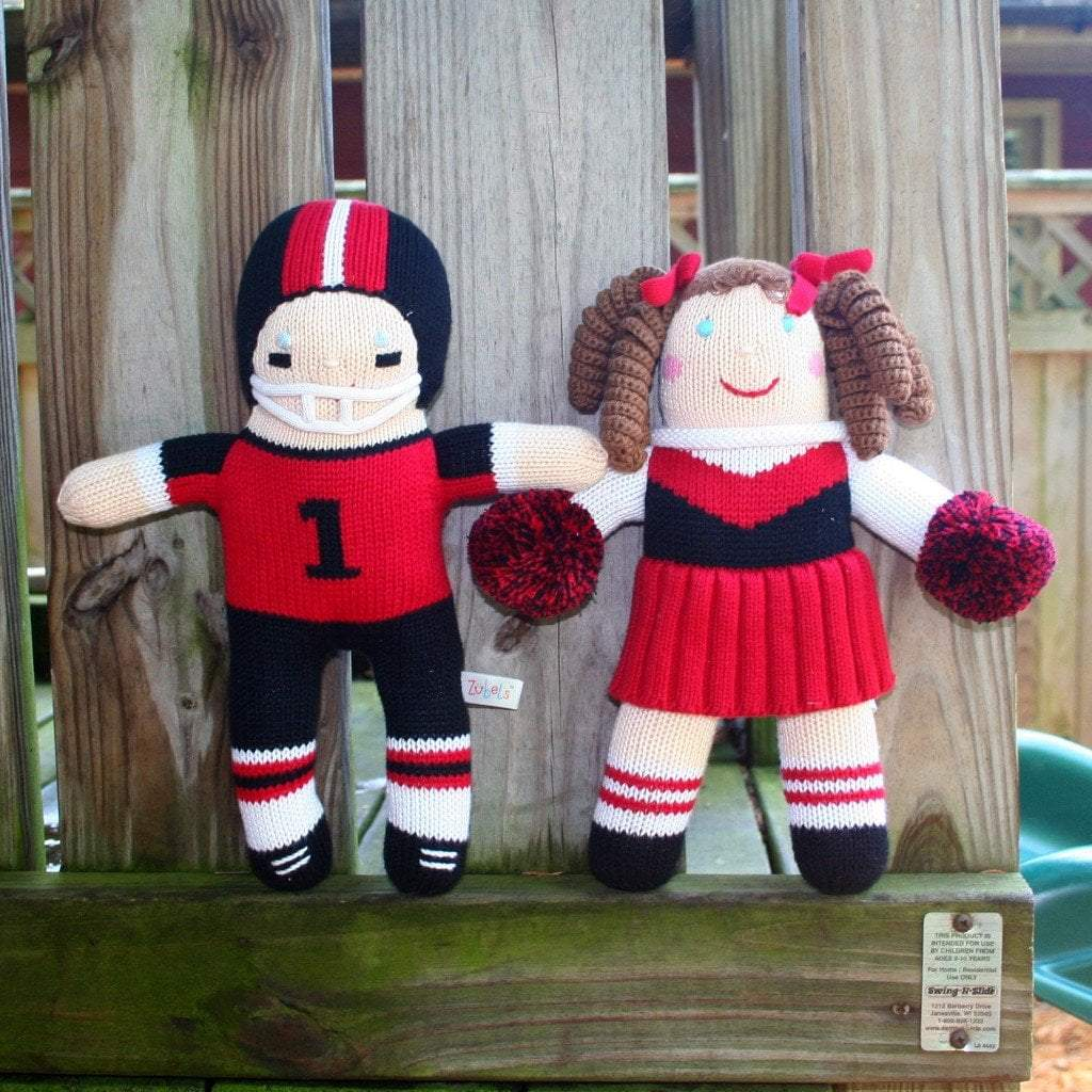 zubels toy Cheerleader Red & Black knit