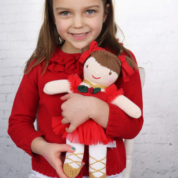 zubels toy Holiday Girl Doll 12""