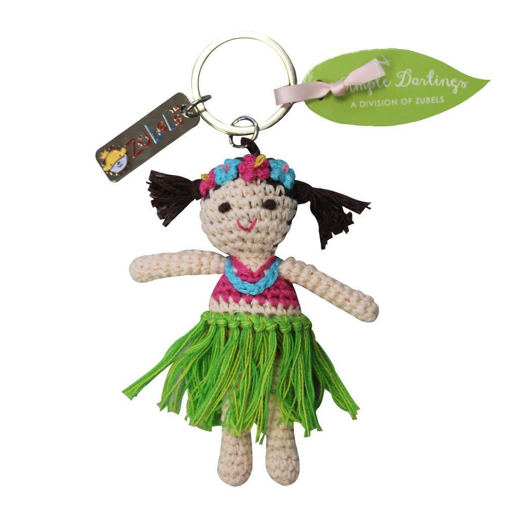 zubels toy Keychain Hula Girl 4""
