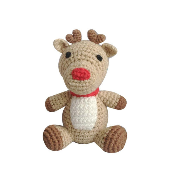 "zubels toy Reindeer Crochet Dimple-4""  PB"