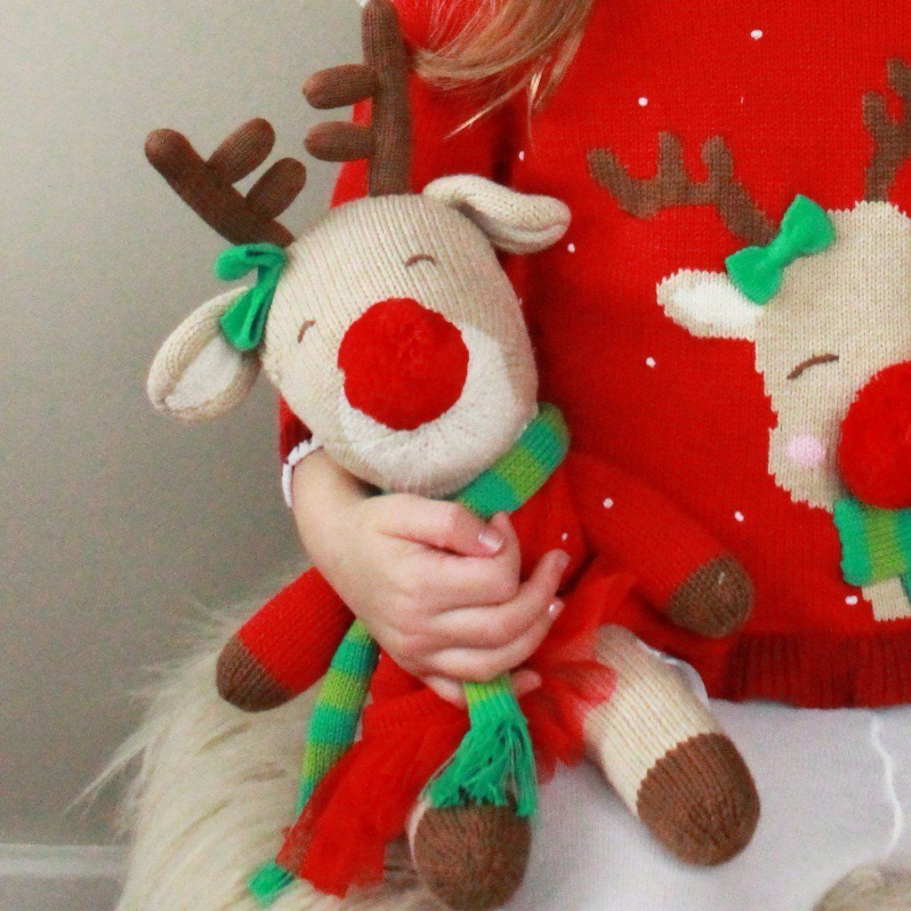 Ruby the Reindeer Knit Doll toy zubels