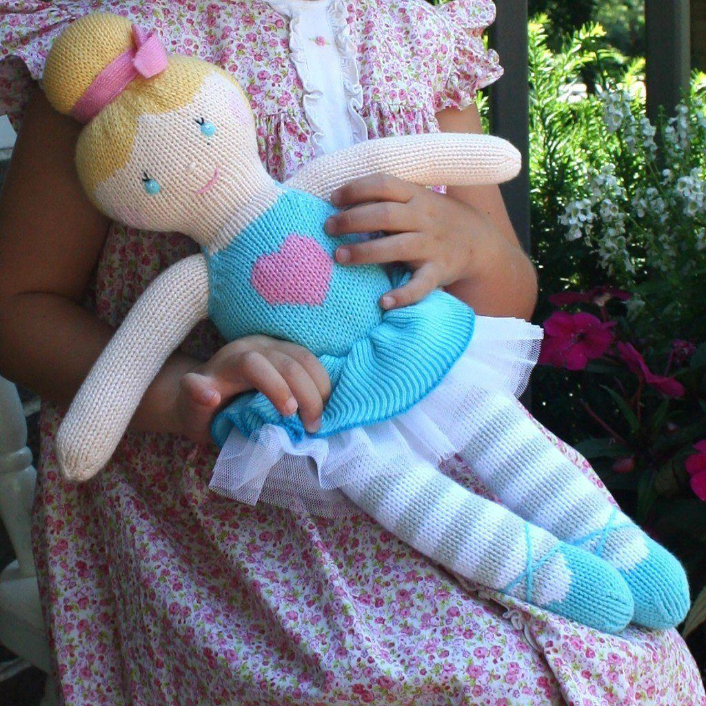 "zubels toy Zoe the Ballerina 14"" knit"