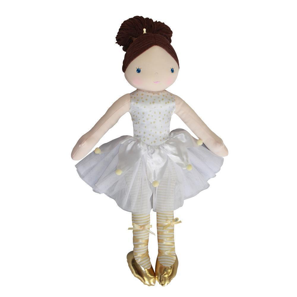 "Sophia the Dancing Darling Woven Ballerina Doll woven doll zubels 14"" White"