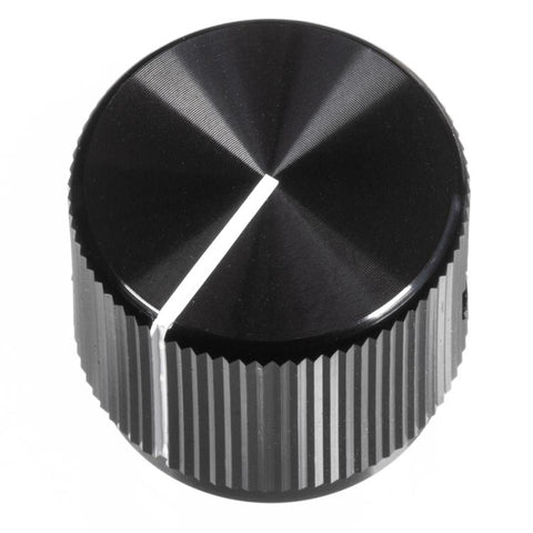 19mm Anodized Aluminum Knob, Black
