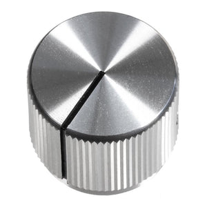 19mm Anodized Aluminum Knob, Silver