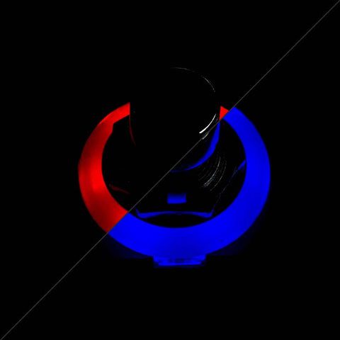 3PDT Foot Switch with LED Ring, Red/Blue
