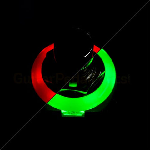 3PDT Foot Switch with LED Ring, Red/Green