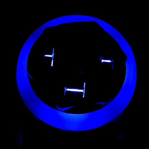 3PDT Foot Switch with LED Ring, Wired, Blue