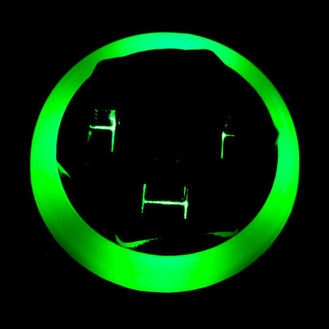 Image of 3PDT Foot Switch with LED Ring, Wired, Green