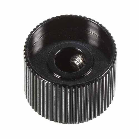 Image of Large Knurled Aluminum Knob, Black
