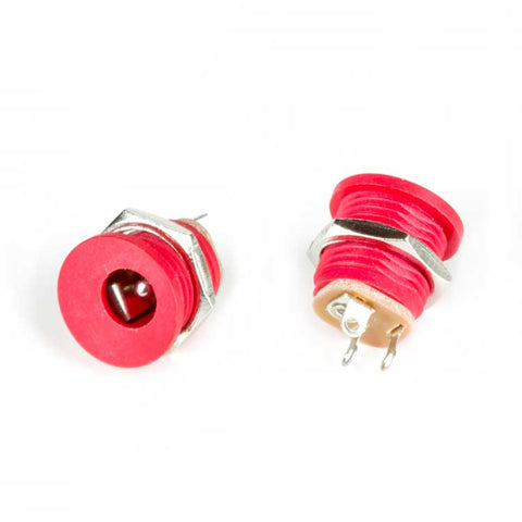 DC Jack, Internal Nut (Red)