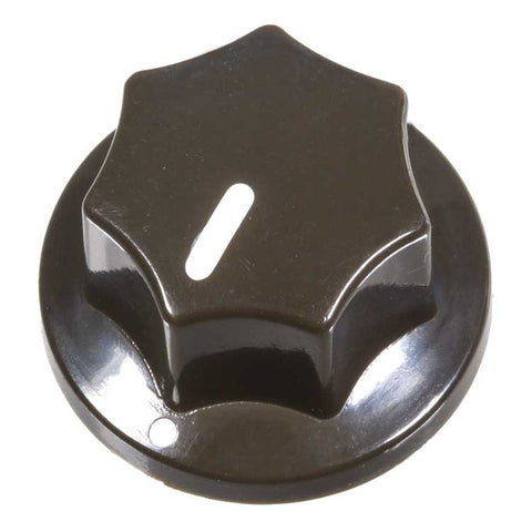 Fluted Knob, Dark Brown
