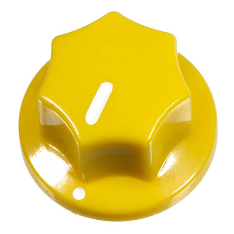 Fluted Knob, Dark Yellow