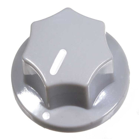 Fluted Knob, Light Grey