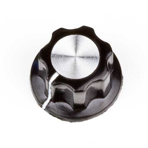 Fluted Mirror Knob, Black
