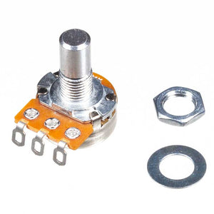 A10K 16mm Potentiometer, Round Shaft, Solder Lugs