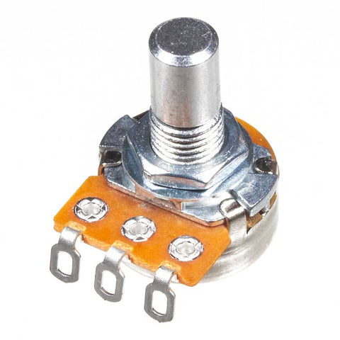 Image of A100K 16mm Potentiometer, Round Shaft, Solder Lugs