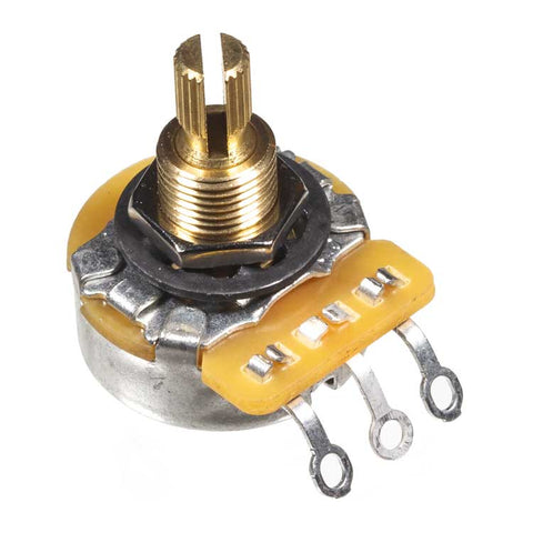 "A250K 3/8"" CTS Guitar Potentiometer, Knurled Shaft"