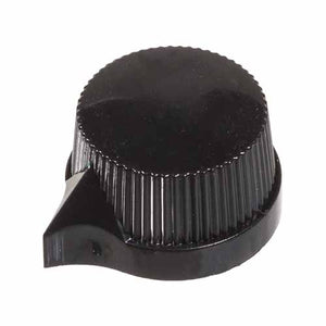 Knurled Pointer Knob, Black