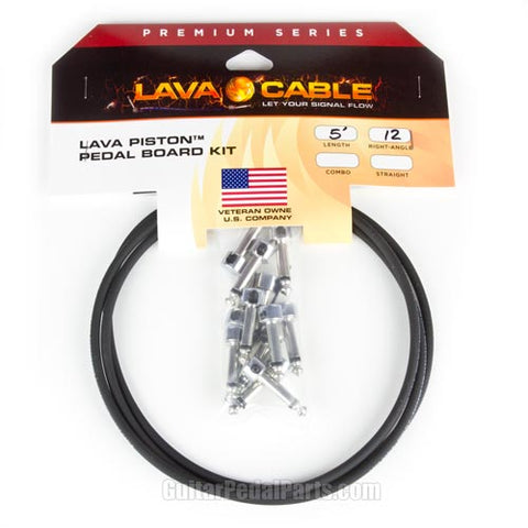 Image of 6-Pack Lava Cable Piston Solderless Cable Kit Black