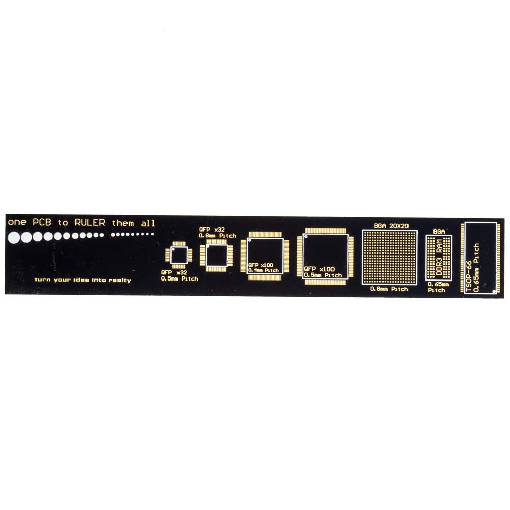 6-Inch PCB Pattern Ruler