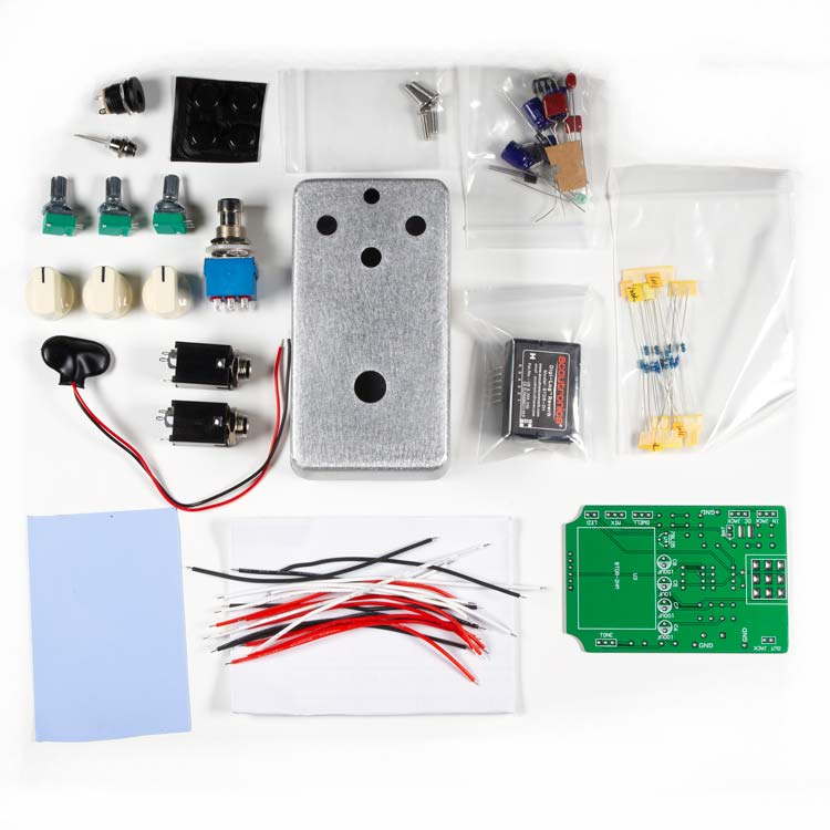 Digital Reverb Guitar Pedal DIY Complete Kit