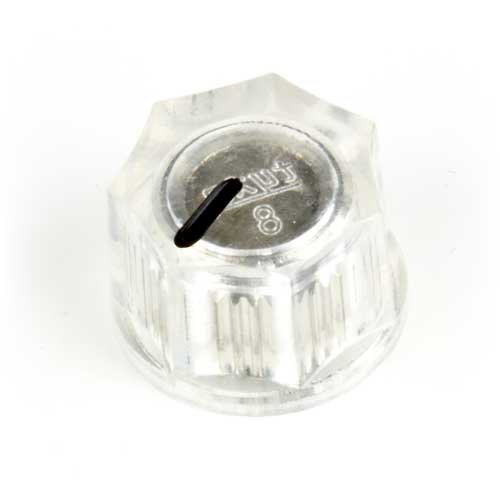 Small Fluted Knob, Clear