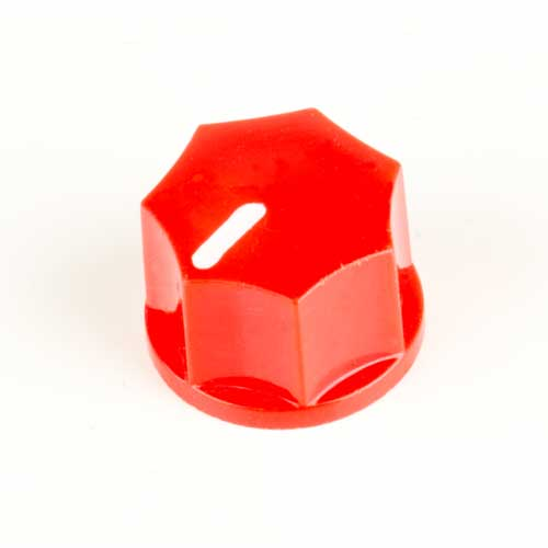 Small Fluted Knob, Red