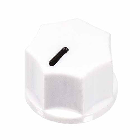 Small Fluted Knob, White
